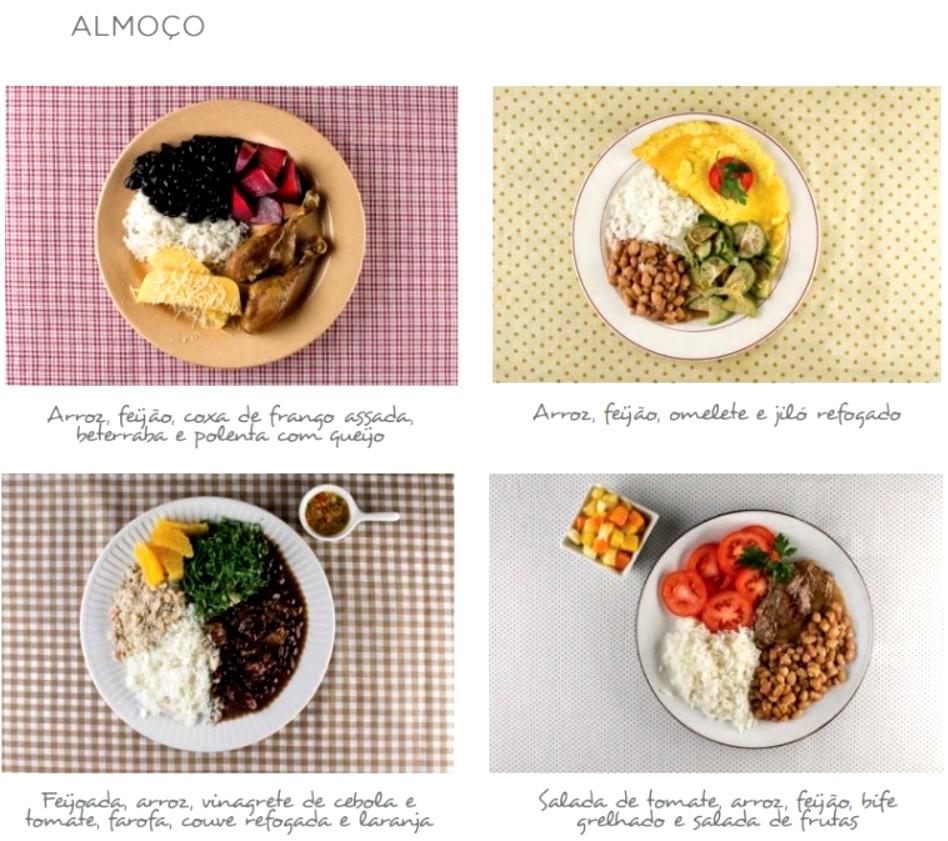 guia nutricional brasileiro exemplos de almoco