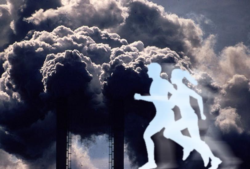 praticar exercicios em areas poluidas
